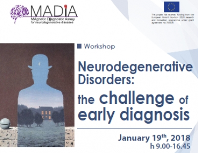 Workshop - Neurodegenerative disorders: the challenge of early diagnosis