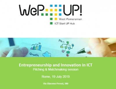 Entrepreneurship and Innovation in ICT - Wep UP! meeting in Rome