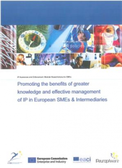 """Promoting the benefits of greater knowledge and effective management of IP in European SMEs & Intermediaries"""